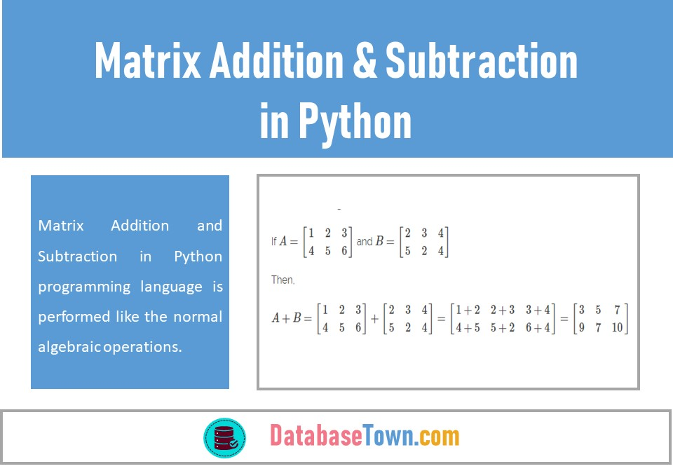 Matrix Addition and Subtraction in Python