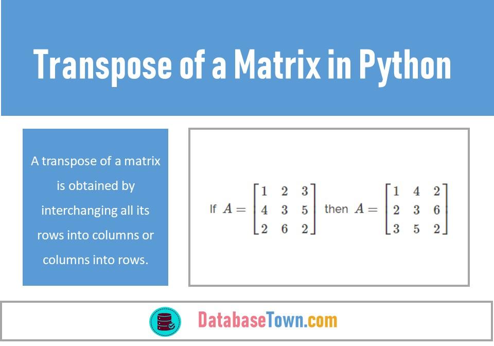 Transpose of a Matrix in Python